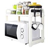 JXXDDQ Küchen-/Mikrowellen-Regal, doppelschichtig, Multifunktions-Regal für Backofen und...