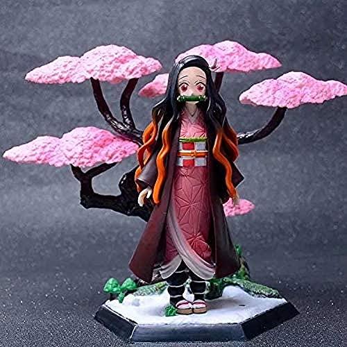 WIJJZY Anime Figurines Demon Slayer Figura Kamado Nezuko Cherry Blossom Version Doll Toy Demon...