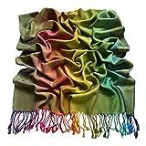 CJ Apparel Verde Diseño de mariposa Mantón Pashmina Bufanda Wrap Estola Lanzar Secondi NUEVO