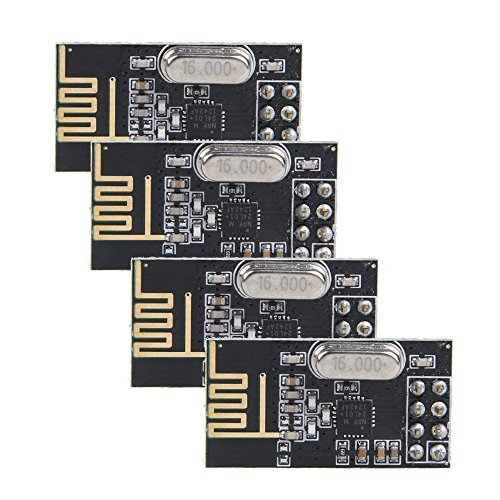 Amazon.es - 4pcs NRF24L01- 2.4GHz RF Wireless Transceiver Module