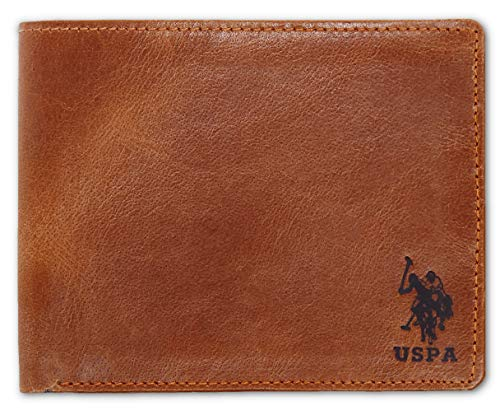 US POLO ASSN. Slim Leather Wallet for Men