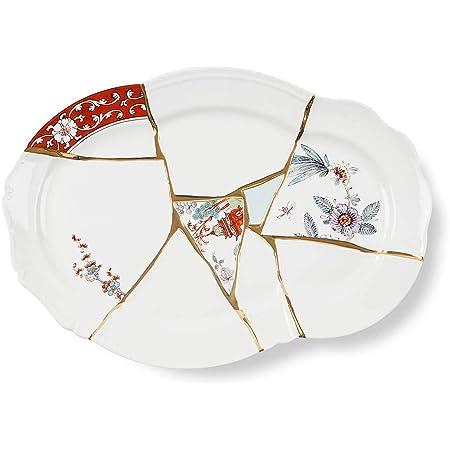 Seletti Kintsugi Vassoio in porcellana e oro 24 carati