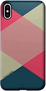 Macmerise IPCIXMPMI0438 Criss Cross Tealpink - Pro Case for iPhone XS Max - Multicolor (Pack of1)