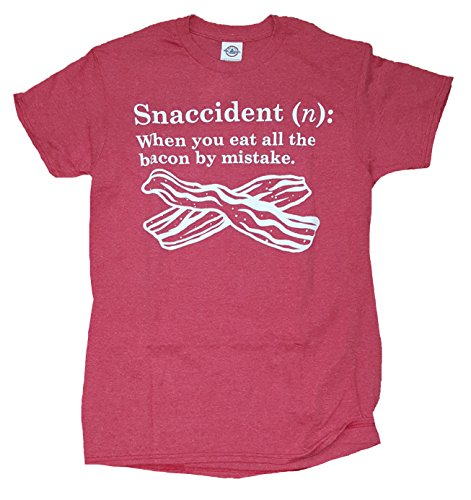 Bacon Snaccident Definition Red Graphic T-Shirt - X-Large