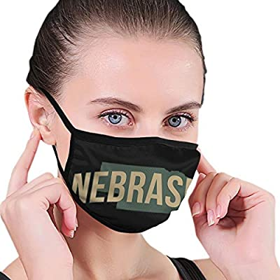 Nebraska Unisex Washable Reusable Ma-sk Anti Dust Mouth Face Perfect for Stay Safely Face Ma-sk Black