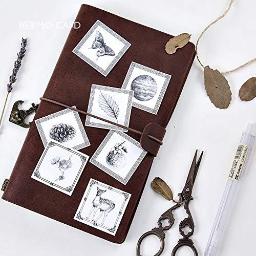 BLOUR 45pcs / PackMini Adesivi Decorativi Nero Bianco emozione Scrapbooking DIY Diario Album Stick Stick Decor
