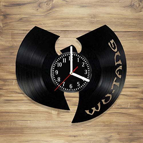 Vinyl Record Wall Clock Hip Hop Clan Rap Legend Bastard Staten Island Handmade Art Home Unique Gift idea Him Her (12 inches)