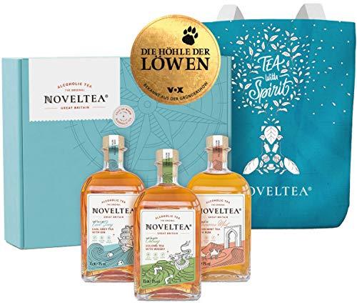 Noveltea - Alkoholischer Tee - Die Höhle der Löwen - Das Große Trio Geschenke Set inkl. Tasche 3 x 700ml, 11% Vol.