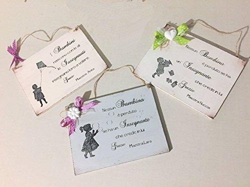 Idea regalo targa per maestra - personalizzabile con...
