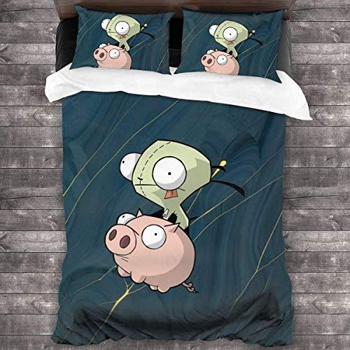 shenguang Castl-Evania Cartoon Soft Bedding Set Duvet Cover Set with 2 Pillowcase, Unique 3 Piece Bedding Set Duvet Cover Sets,(No Comforter) C131