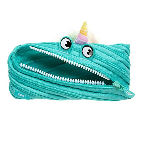 ZIPIT Unicorn Pencil Case, Turquoise (UNI-4)
