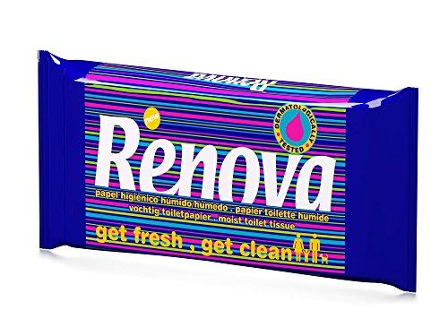 Renova Papel Higiénico Húmedo - Pack de 12 Servicios