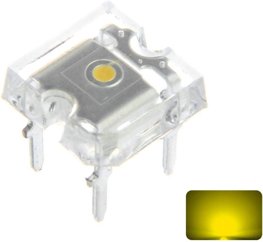 GAIXIA Lights 100PCS 2V 20mA 3MM New sales Max 69% OFF Flat 4PIN Yellow Transparent To
