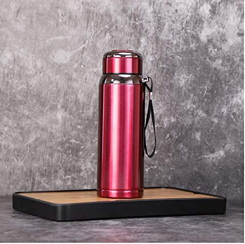 Botella termo de acero inoxidable de 800 ml botella de vacío de gran capacidad deportes termo botella de agua al aire libre cuerda de viaje Thermos-2