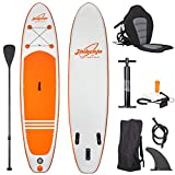 Jiubenju All Around Inflatable Stand Up Paddle Board with Kayak Seat, Supports 308 LBS, 10'6' L x...