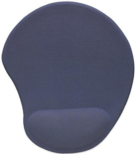 Manhattan 427203 Ergonomisches Gel Mauspad (Verbessert Komfort und Performance der Maus) blau