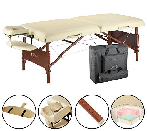Master Massage 71cm Del Ray Pro Tragbarer Massage-Therapie Beauty Couch Tisch Massageliegen Bett Paket, sand Farbe, luxuriöser mit 6.4cm dick Kissen aus Schaumstoff