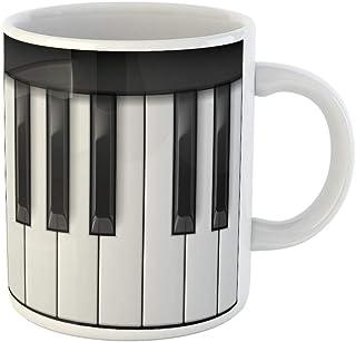 Awowee Coffee Mug Keyboard Piano Keys Cool for Creative Musi