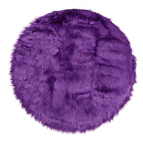 Depskin Area Rug Indoor Soft Fluff - Alfombra para dormitorio, estantería para sofá, armario o salón (2 patas redondas, color morado