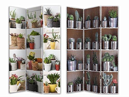 HTI-Line Paravent Kaktus Sichtschutz Spanische Wand Raumteiler NEU OVP