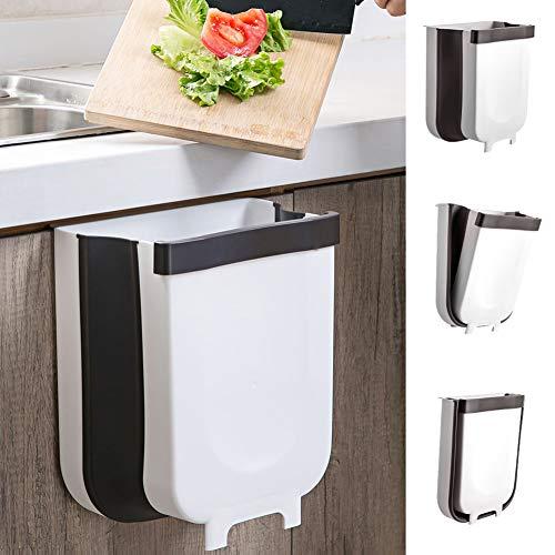 jojobnj Faltbarer Mülleimer, Aktualisiert Mülleimer Hängender mit Müllsackhalter für Küche Kabinett Tür, Mülleimer für Küche Schlafzimmer Auto Camping - 5L(Klein)