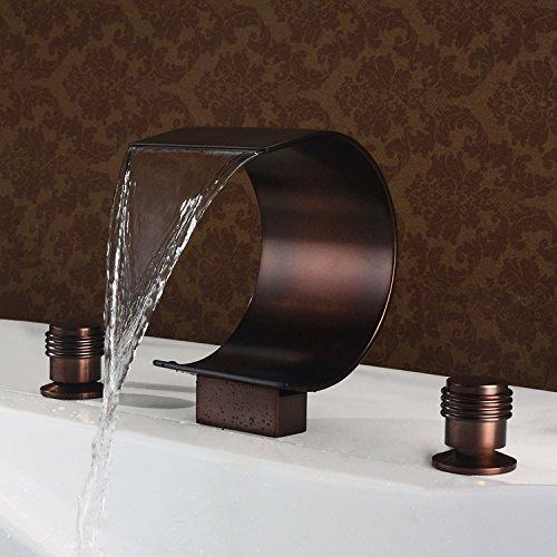 Jiuzhuo mooni Robinet de la baignoire romaine de la cascade de bronze Starwax