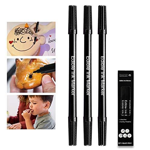 JOLIGAEA 12 PCS Bolígrafos Comestibles para Decoración de Pasteles, Marcador