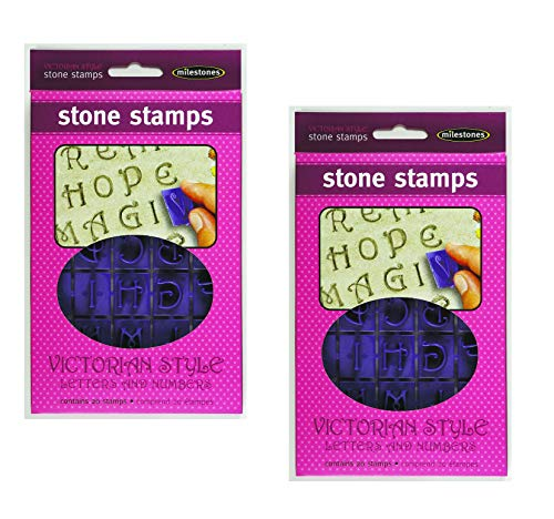Milestone Stepping Stone Stamps Victorian Letters and Numbers (Pack of 2)