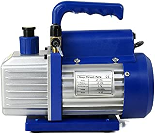 Smartxchoices 1/4 HP Single Stage Rotary Vane Vacuum Pump 3.5 CFM Air Conditioner Refrigeration HVAC Air AC A/C R410a (110V)