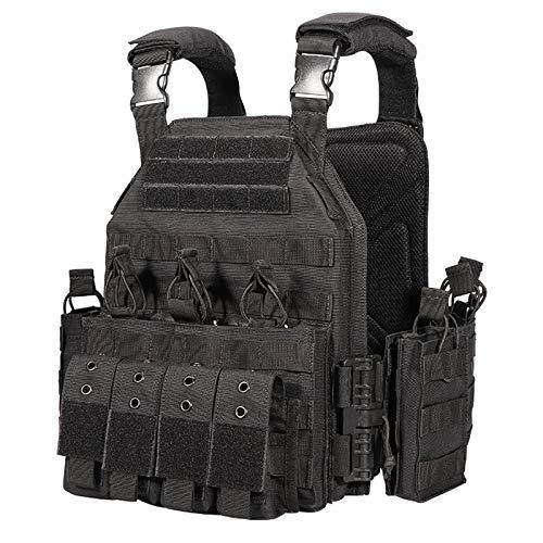 vAv YAKEDA Tactical Military Vest for Men Quick Release Outdoor Airsoft Vest Adjustable for Adults (Black)