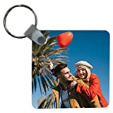 Portachiavi quadrato personalizzabile con foto a stampa sublimatica su entrambi i lati idea regalo