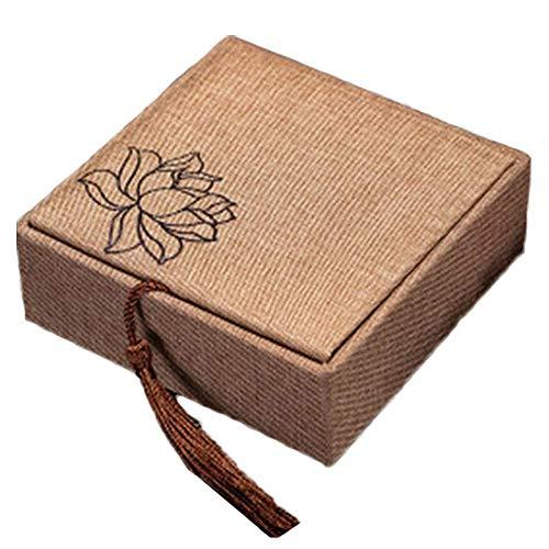 DINEGG Cajas de Regalo de Madera Decorativa de Madera Caja de Pulsera de Forma geométrica para Aniversario de cumpleaños Suministros de San Valentín de Boda QQQNE (Color : Style 3)