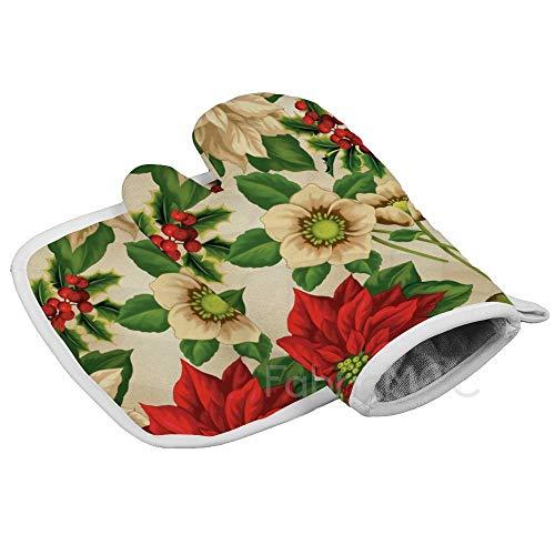 Dwi24isty Oven Handschoen en Potholder (2-delige sets), Oma Tuin - Vogelhuisjes Roze Oven Handschoen en Pot Houder Mat Set, Geavanceerde Hittebestendige Oven Mitt, Niet-lip Getextureerde Grip Pot Houders