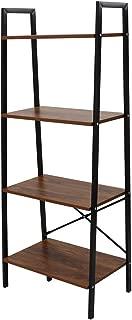 LASUAVY Ladder Shelf Bookcase Multi-Functional Modern Wood Storage Display Open Bookshelf (Three)