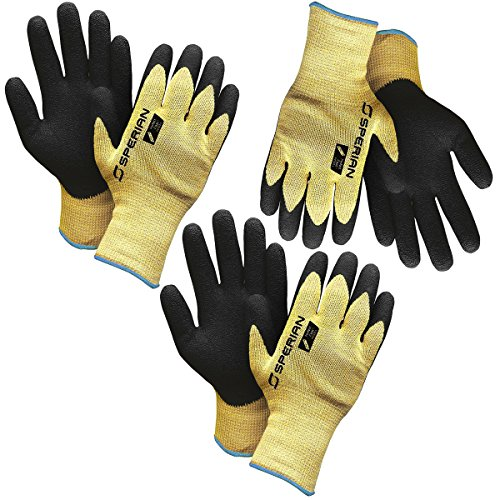 Sperian3 Pairs Of Heavy Duty Nitrile Coated Kevlar Atlas Work Gloves Automotive