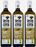 3x Terra Creta BIO Olivenöl | Extra natives Bio-Olivenöl aus Kolymvari (Kreta) | + 1 x 20ml Olivenöl'ElaioGi' aus Griechenland