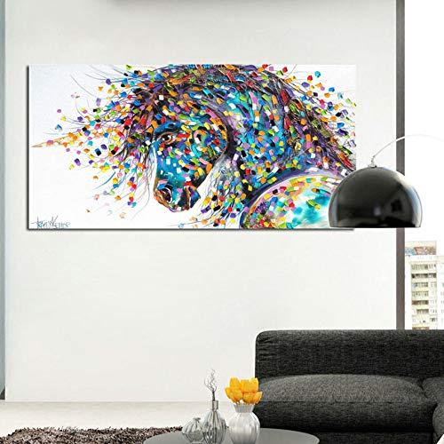 NOBRAND Cuadros Sin Marco 50X70Cm-Caballo Graffiti Pared Arte Pintura Animal Decoración Pintura Sala Lienzo Impresión Arte Moderno Cuadro Aa408