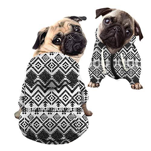 HUGS IDEA Sudadera tnica con capucha para perro, con diseo geomtrico elegante, con gorro, con capucha para gatos, para perros pequeos y medianos  L