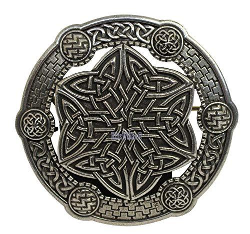 Gaelic Themes Celtic Key Sash Shawl Plaid Brooch Pin