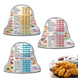 Air Fryer Magnetic Cheat Sheet Set, Instapot Air Fryer Lid Accessories Cooking Times Chart, Instant Pot Frying Quick Reference Guide Cookbook Magnets