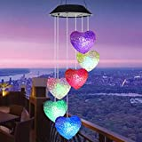 solar lights Solar Wind Glockenspiel Lampe LED Gartenterrasse hängen rotierende Lampe Verfärbung IP65 wasserdichte dekorative Lampe-C.