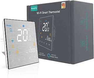MoesGo Termostato Smart WiFi programmabile con controllo della temperatura per impianti con boiler/caldaia ad acqua o gas,...