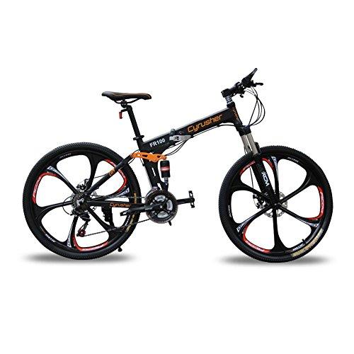 Extrbici FR100 マウンテンバイク MTB 折りたたみ自転車 自転車 シマノ24段変速 ディスクブレーキ フルサス...