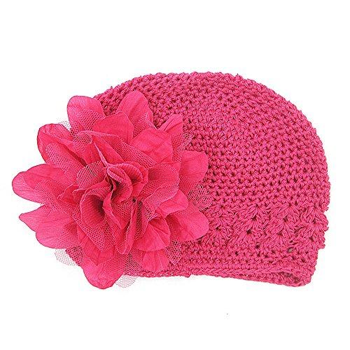 URSING Babymützen Kleinkinder Baby Mädchen Mode Blumenhut Aushöhlen Stricken Hut Kopfbedeckung Strickmütze Headwear übergangsmütze Baumwollmütze Häkelmütze Kindermützen
