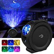 Night Light Projector, LBell 3 in 1 Ocean Wave Projector Star Projector w/LED Nebula Cloud& Moon for Baby Kids Bedroom/Game Rooms/Home Theatre/Stage/Night Light Ambiance
