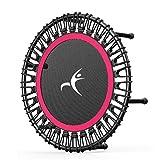 AOKASIX Trampoline D'exercices, Trampoline & Extérieur Sport Fitness Entraînement 100 Kg Ø 32 Pouces Convient pour La Remise en Forme des Adultes en Intérieur,Rouge,40Inch
