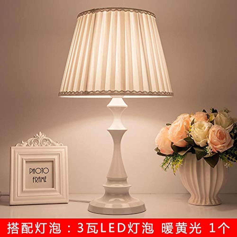 3D Nachtlicht Lampentischlampe Schlafzimmer Nachttischlampe Kreative Energiesparlampe Nachtlicht Dimmbar Fütterung Augenschutzlampe @ [Large] _Weiß_Folding_Cloth_ (Led_Light) _Touch_Switch