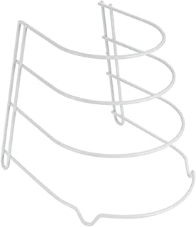Metaltex 36270414095 Porte-poêles-Sierra, Fil plastifié, Blanc, 23 X 27 x 23 cm