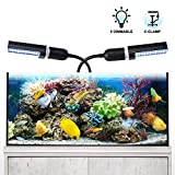 Aquarium LED Beleuchtung Relassy Aquarium Beleuchtung Lampe Dimmbar mit Austauschbaren E27 Lampen,...