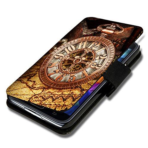Book Style Flip Handy Tasche Hülle Schutz Hülle Schale Motiv Etui für Huawei Ascend P7 Mini - A52 Design5